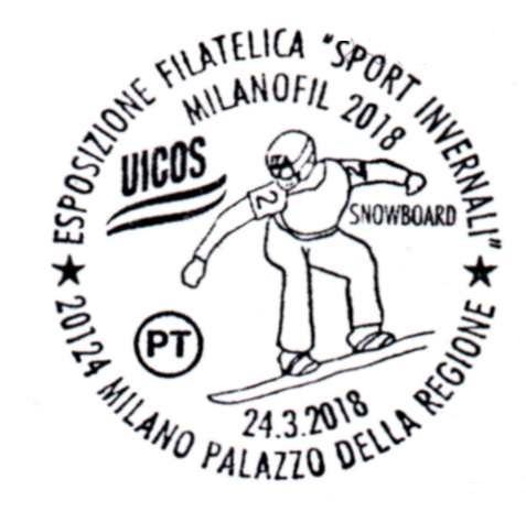 Annullo Milanofil 24 marzo 2018